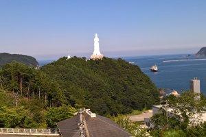 The Kamaishi harbour and Big kannon