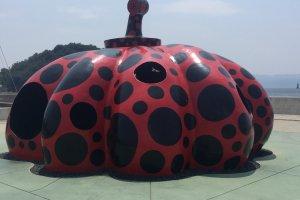 Yayoi Kusama's Red Pumpkin