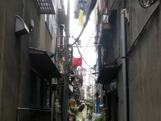 Passing by a casual street of Takishima