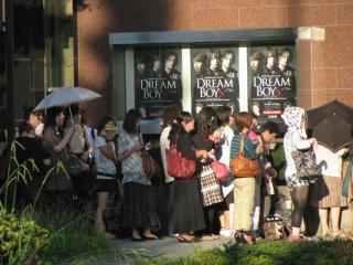 The line to Dream Boys!