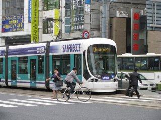 A tram of Hiroshima