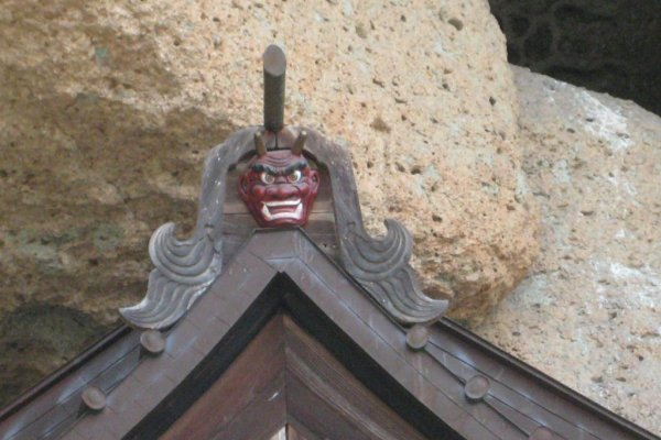 Ohyaji - enter the cave for a few hundred yen and see Japan\'s oldest Buddhist figure carved into the wall of the cave