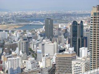 Birdseye view of Osaka