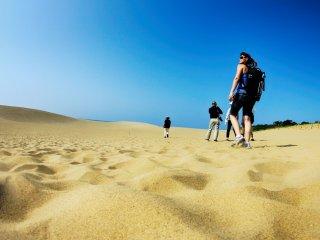 Bãi cát xinh đẹp với những gợn sóng nhỏ