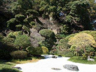 Selain taman bambu, ada juga taman zen khas Jepang