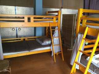 Clean and comfortable bunk beds