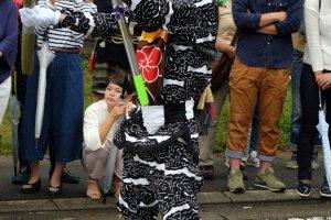 Oni (demonios) son parte importante del festival