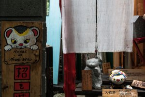The Maneki-neko Museum is worth the ¥200 entry fee