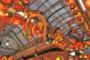A dragon-shaped lantern in Nagasaki