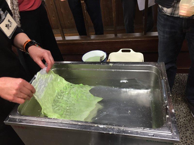 La fabrication de la salade