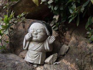 A zen looking Jizo statue