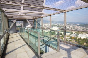 Nice glass design of the observation deck