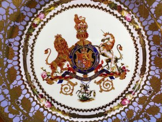 British porcelain plate