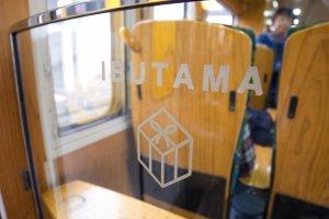 The little designs in the train interior