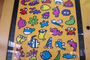 Cartoon marine life decorations