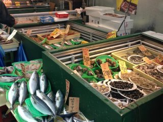 新鮮な魚が次から次へと売れてゆく。
