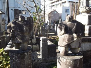 More of the unusual chubby statues