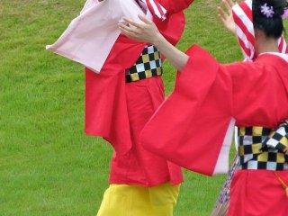 folk dancers perform at a local event