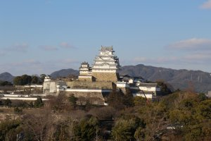Himeji Castle as seen from the Egret Himeji rooftop