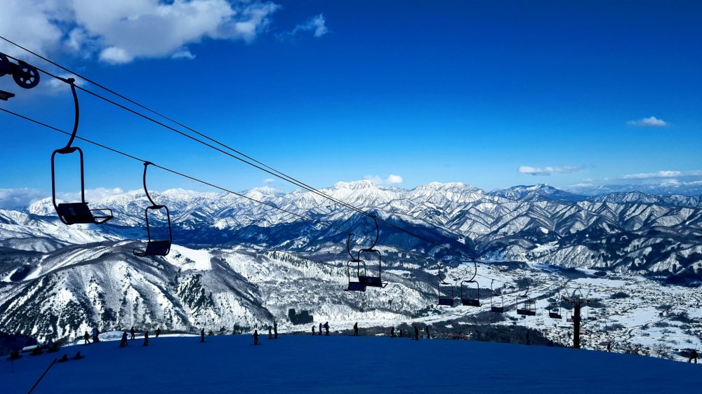 Happiness is: a snowboard and a view like this.