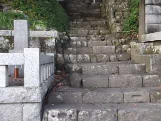 Steps leading up away behind the hall