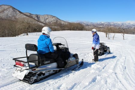 Snowmobiling at Ozasa Farm