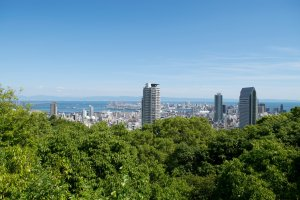 Kobe from above, as seen at the viewpoint by Nunobiki Falls.
