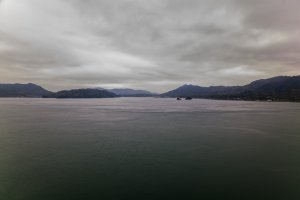 The view from the Shimanami Kaido on a gloomy day