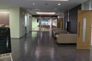 The main floor lobby