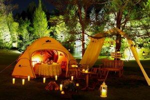 """""""Glamping"""" (glamorous camping)"""