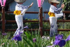 Women dancing at Itako's Iris Festival