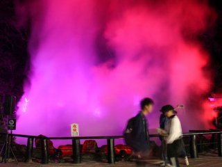 The 'Sea Hell' had speakers playing music, illumination and a hologram display on the fumes