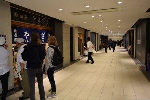 Restaurant area at Toyosu Market