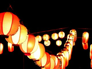 These lanterns were part of the local obon festival in Yashio City in southern Saitama Prefecture.