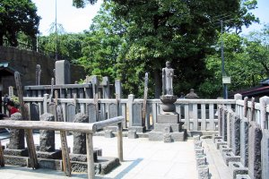 The graves of the 47 ronin