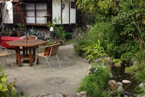 At Furui restaurant a table in the garden is best in the warm seas