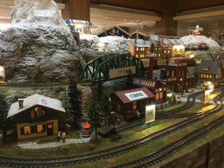 What Christmas display is complete without a moving Christmas village complete with train set and ski lift?