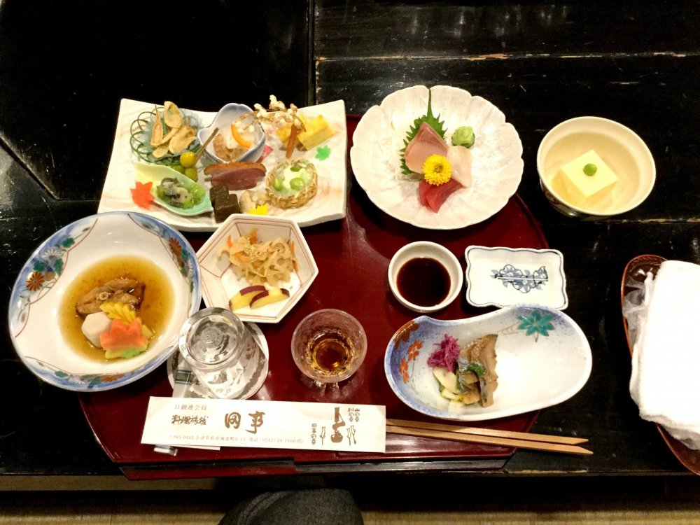 Kaiseki ryori - a variety of subtle flavors and textures