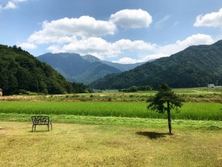 This picture was taken from the Tomioka White Museum parking lot. Yes - from a parking lot!