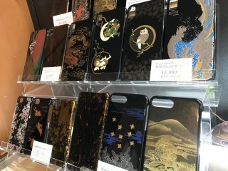 Modern uses for lacquerware - as phone cases!