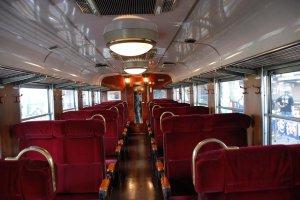 Retro look inside the train