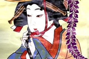 """Fuji musume"", the iconic wisteria maiden dancer of Kabuki theater"