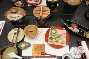 Dinner at Shirakabeso