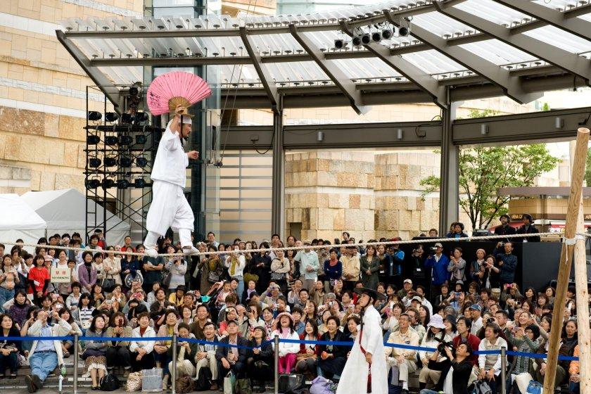 Korean tightrope walking