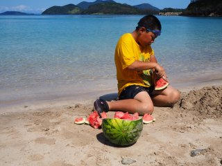 In Japan you cannot go to a beach without a watermelon