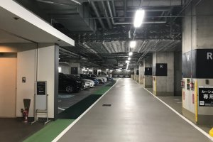 The garage parking area was convenient