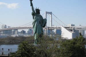 The smaller version of the Statue of Liberty