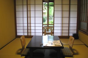 Japanese style room in a ryokan