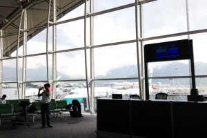 Cathay Pacific flight about to leave Hong Kong with good frequencies to Sapporo Nagoya  Tokyo Fukuoka and Osaka