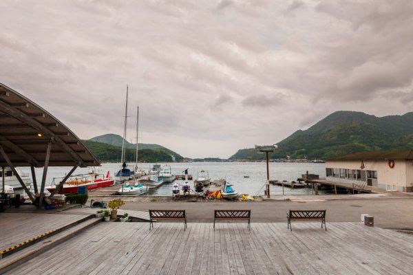 Tsurumaru's private yacht harbour add a rustic feel
